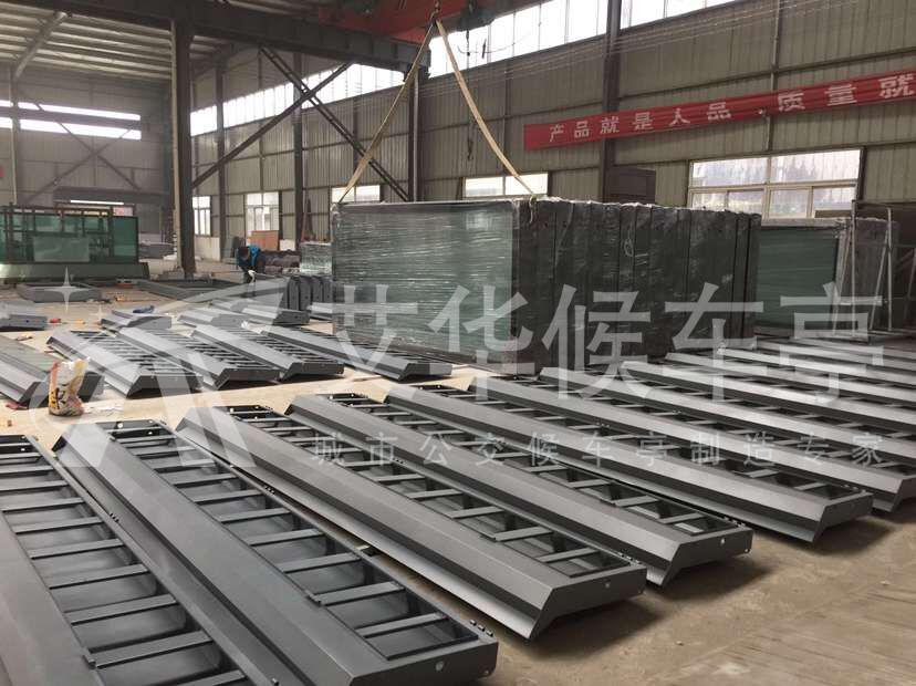 宿迁艾华中标泗洪城市公交候车亭建设工程(图2)