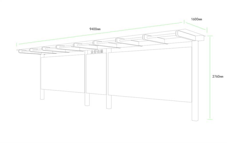 城市品位候车亭AH-3008(图3)