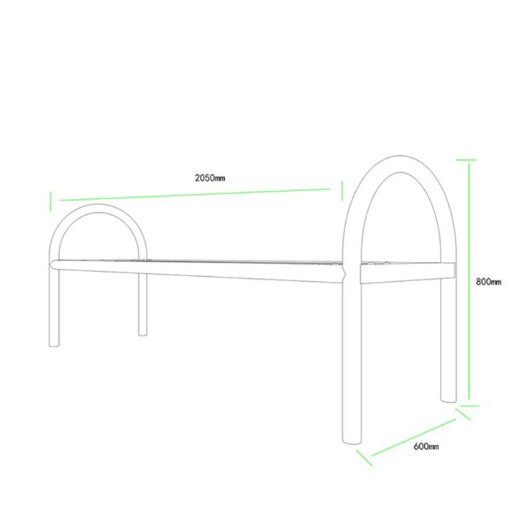 公共座椅AH-M009(图3)