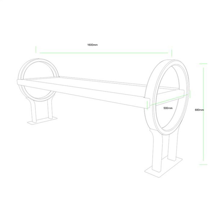 公共座椅AH-M007(图3)