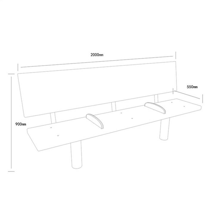 公共座椅AH-M003(图3)