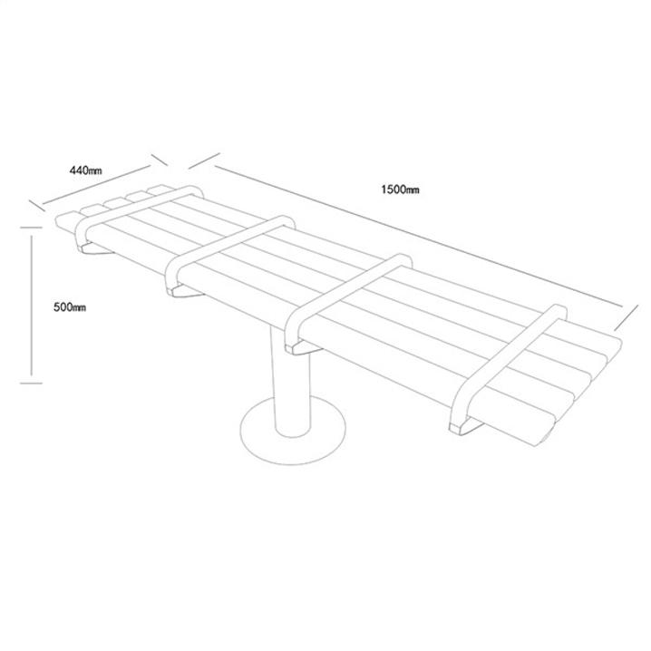 公共座椅AH-M001(图2)