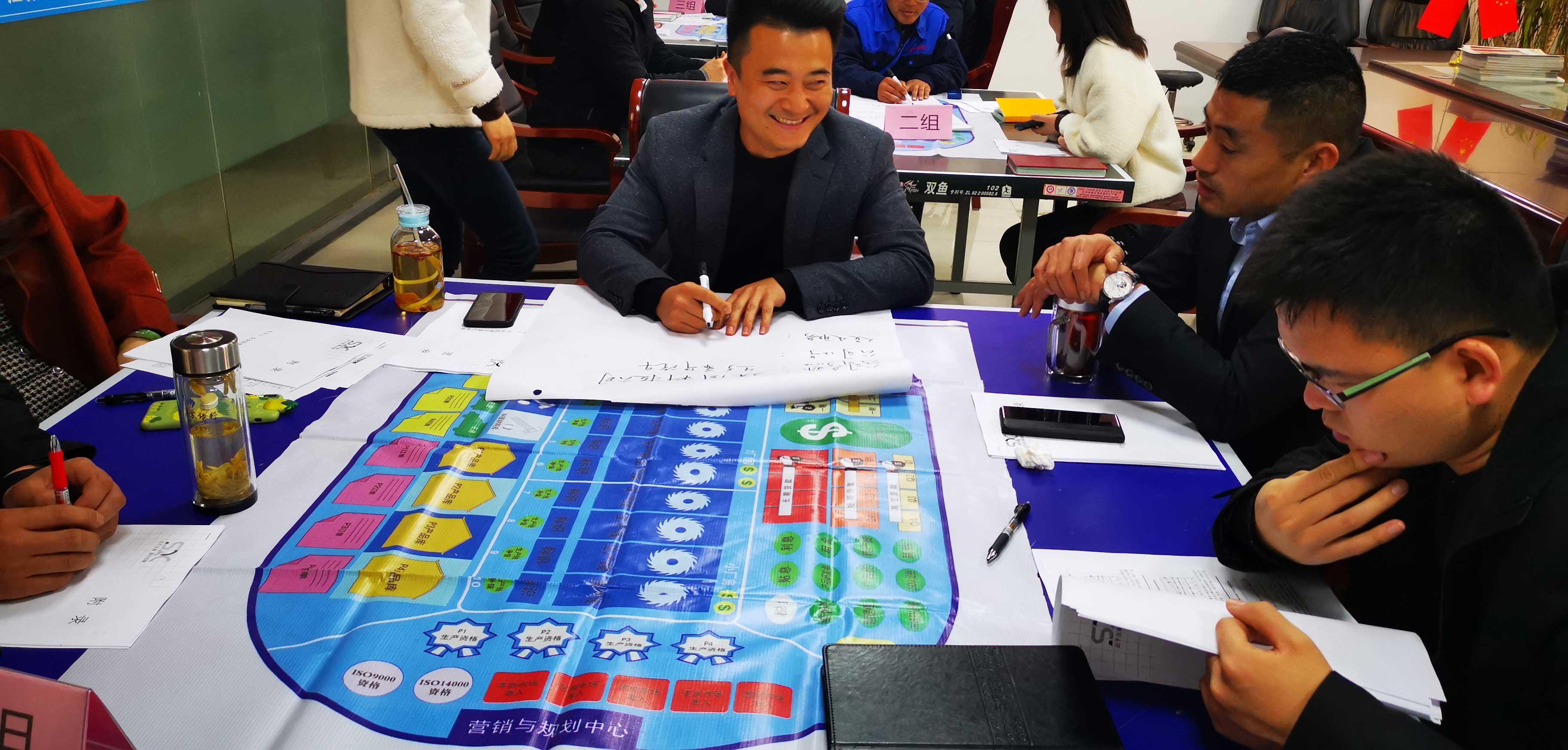 江苏艾华美陈中高层团队《企业运营沙盘》复盘演练(图3)
